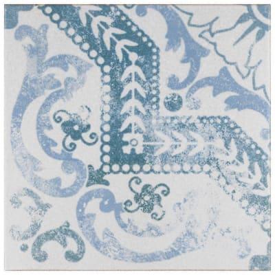 Klinker Alcazar Roseton Encaustic 12-3/4 in. x 12-3/4 in. Ceramic Floor and Wall Quarry Tile (1.13 sq. ft./Piece)