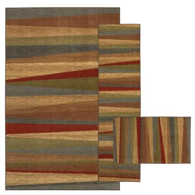 Mayan Sunset Sierra 7 ft. 6 in. x 10 ft. Striped Area Rug
