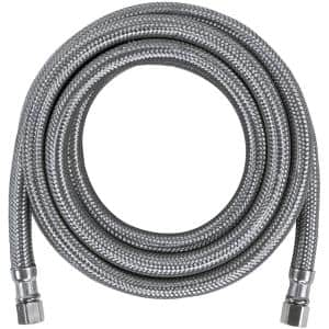 10 ft. Braided Stainless Steel Ice Maker Connector