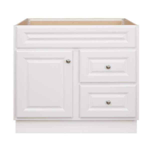 Glacier Bay Hampton 36 In W X 21 In D X 33 5 In H Bathroom Vanity Cabinet Only In White Hwh36dy The Home Depot