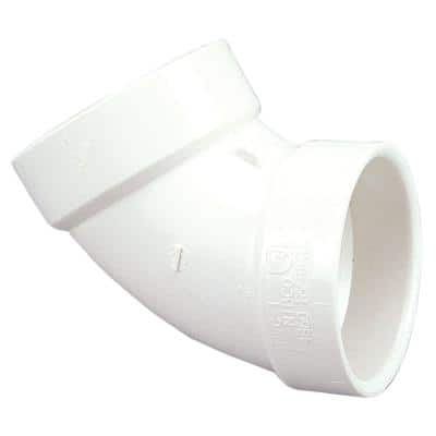 3 in. PVC DWV 60-Degree Hub x Hub Elbow Fitting