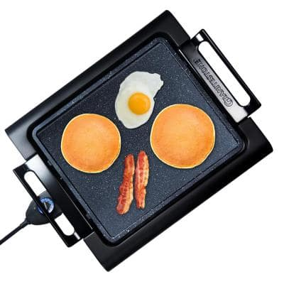 234 sq. in. Triple Layer Titanium and Diamond Infused Coating Non-Stick Smoke-Less Electric Indoor Grill and Griddle