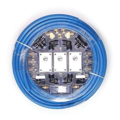 1/2 in. x 100 ft. Nylon Tubing with Air Piping System Air Push To Connect Kit (26-Piece)