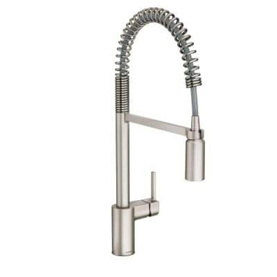 Align Single-Handle Pull-Down Sprayer Kitchen Faucet with Power Clean and Spring Spout in Spot Resist Stainless