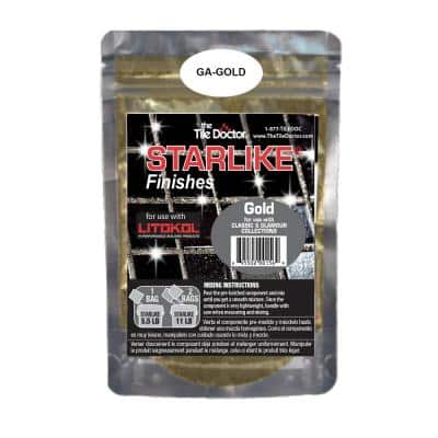Starlike Finishes Epoxy Grout Additive - Gold Glitter Collection 75 g (1-Pack)