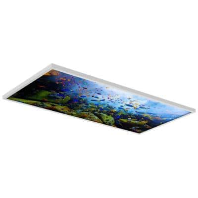 Ocean 001 2 ft. x 4 ft. Flexible Decorative Light Diffuser Panels Ocean for Classrooms and Offices