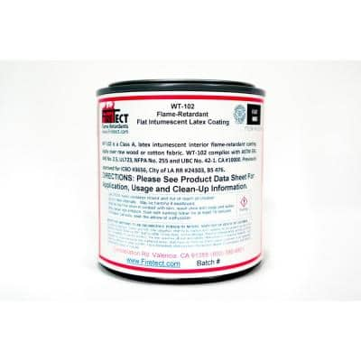 WT-102 8 oz. White Flat Latex Intumescent Fireproofing Flame Retardant Paint Sample for Wood