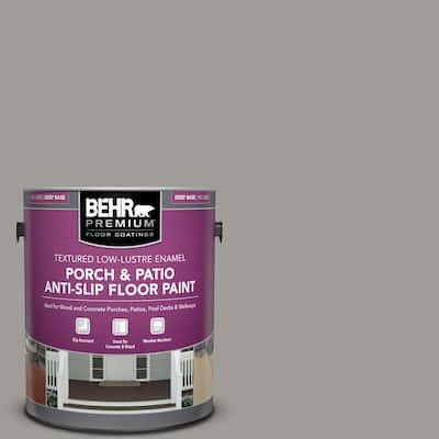 Behr Premium 1 Gal Pfc 62 Pacific Fog Textured Low Lustre Enamel Interior Exterior Porch And Patio Anti Slip Floor Paint 625001 The Home Depot
