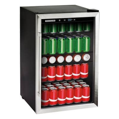 Single Zone 20.43 in. 126 (12 oz.) Can Beverage Cooler