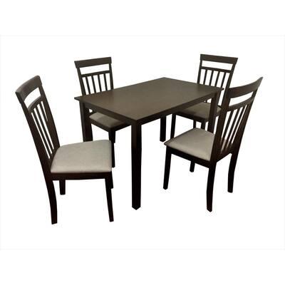 Raymond Wood 5-Piece Dining Table Chair Set