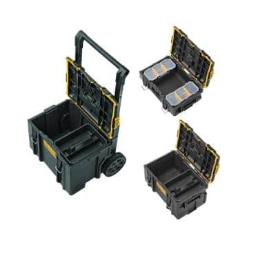 TOUGHSYSTEM 2.0 Small Tool Box with Bonus 22 in. Medium Tool Box and 24 in. Mobile Tool Box (3-Piece Set)