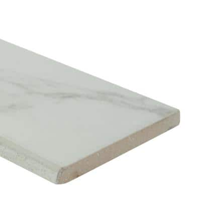 Praia Carrara Bullnose 3 in. x 24 in. Matte Porcelain Wall Tile (24 lin. ft. / case)