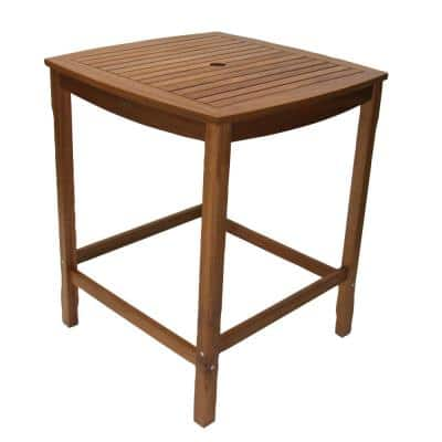 Square Eucalyptus Bar Height Outdoor Dining Table