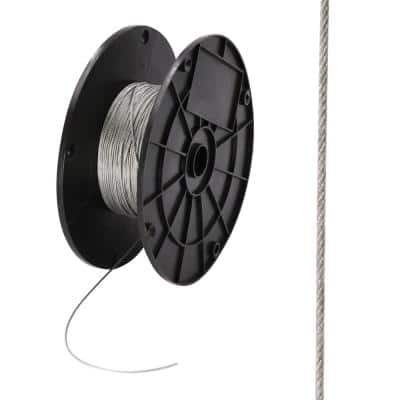 1/8 in. x 500 ft. Galvanized Steel Uncoated Wire Rope