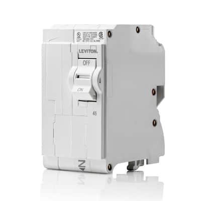 Branch Circuit Breaker, Standard 2-Pole 45 Amp, 120-Volt/240-Volt, Hydraulic Magnetic