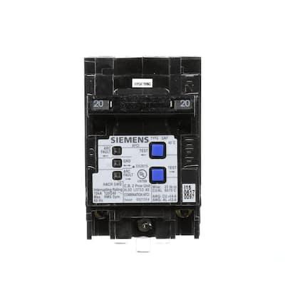Type QAF 20 Amp Double-Pole Combination AFCI Circuit Breaker