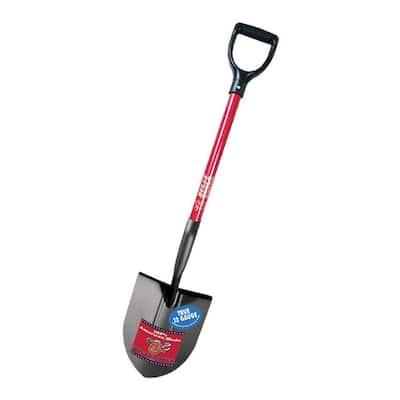 12-Gauge Round Point Shovel with Fiberglass D-Grip Handle