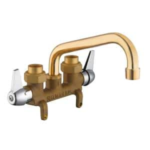 2-Handle Laundry Faucet in Rough Brass
