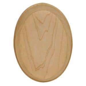 4 in. x 5-1/2 in. Unfinished Maple Oval Rosette