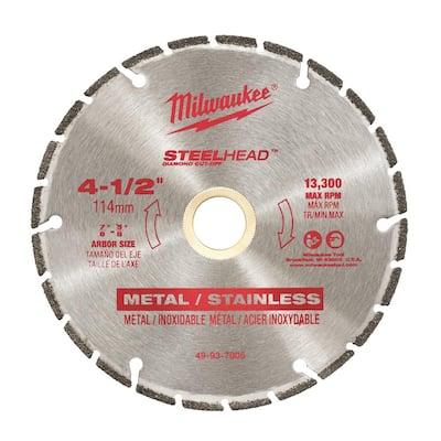 4-1/2 in. Steel Head Diamond Cut Off Blade