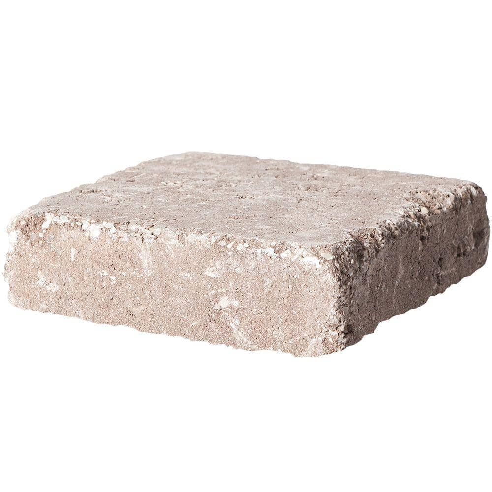 Pavestone Rumblestone Square 7 In X 7 In X 1 75 In Cafe Concrete Paver 91169 The Home Depot