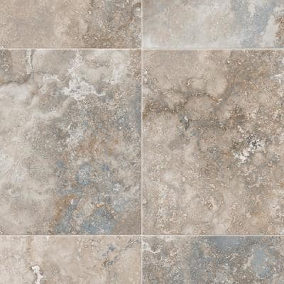 Kara Medium Grey Stone Residential Vinyl Sheet Flooring 13.2ft. Wide x Cut to Length