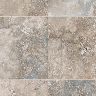 Take Home Sample - Kara Medium Grey Residential Sheet Vinyl Flooring - 6 in. x 9 in.