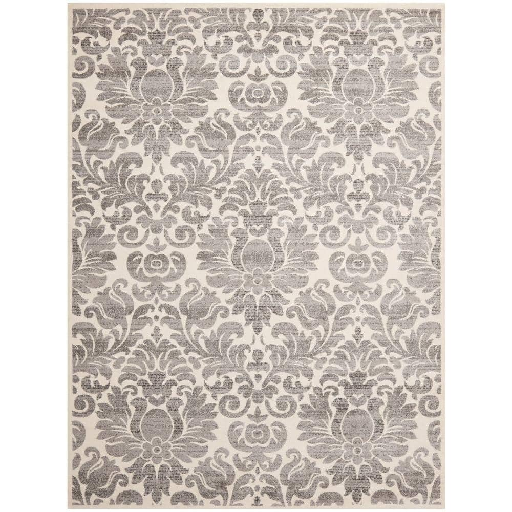 Safavieh Porcello Grey Ivory 7 Ft X 10 Area Rug Prl3714a 6 The Home Depot