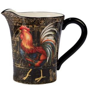 Gilded Rooster 112 oz. Multi-Colored Pitcher