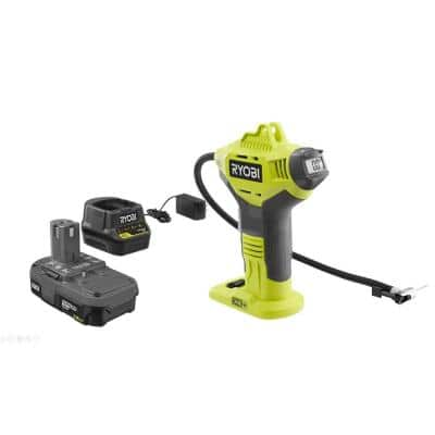 ONE+ 18V Lithium-Ion Cordless Power Inflator Kit with 1.5 Ah Battery and 18V Charger