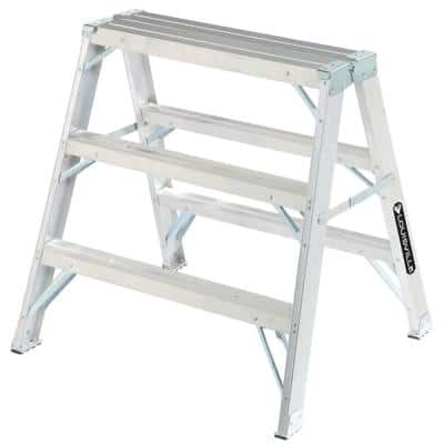3 ft. Aluminum Twin Step Ladder with 300 lb. Load Capacity