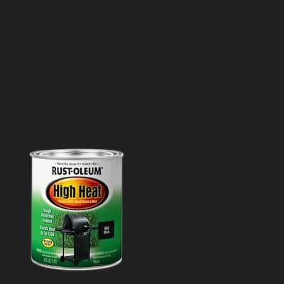 1 qt. High Heat Satin Bar-B-Que Black Enamel Paint