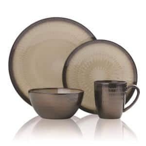 Anastasia 16-Piece Modern Cream Stoneware Dinnerware Set (Set for 4)