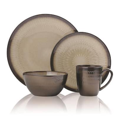 Anastasia 16-Piece Modern Cream Stoneware Dinnerware Set (Set for 4)