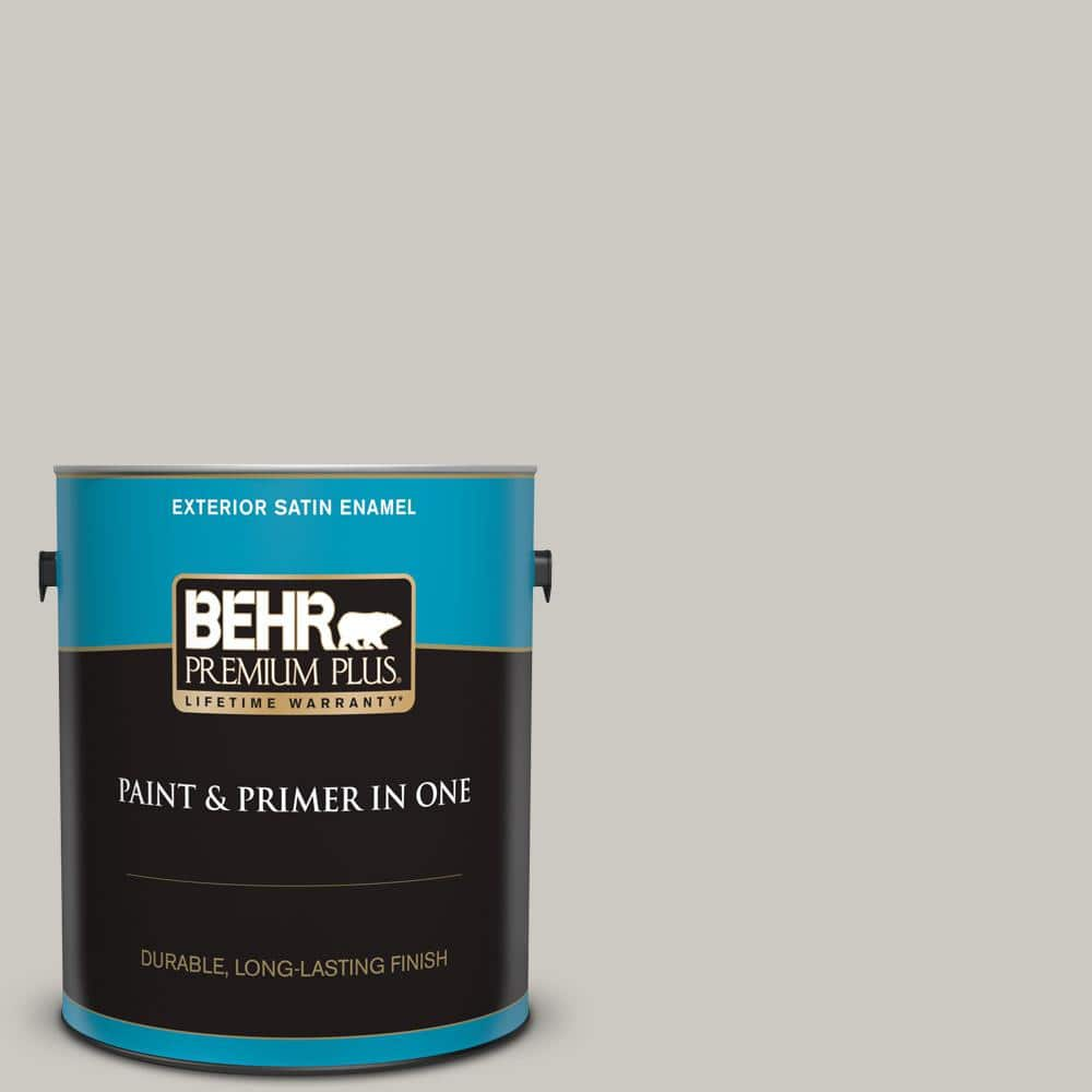Behr Premium Plus 1 Gal 790c 3 Dolphin Fin Satin Enamel Exterior Paint And Primer In One 905001 The Home Depot
