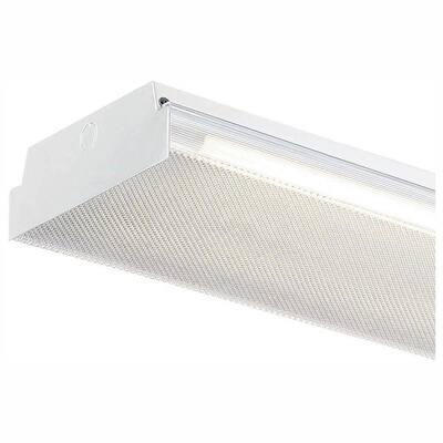 4 ft. x 9 in. 25-Watt 2-Light White LED MV Wraparound Light with Battery Backup and 3250 Lumens T8 Flex Tubes 3500K