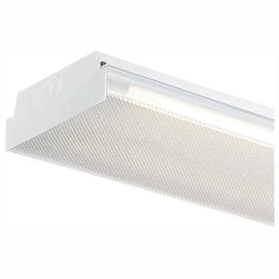 4 ft. x 9 in. 25-Watt 2-Light White LED MV Wraparound Light with Battery Backup and 3,500 Lumens T8 Flex Tubes 4000K