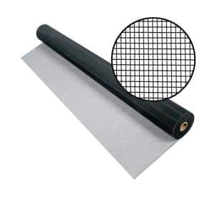48 in. x 100 ft. Charcoal Aluminum Screen (Tube)