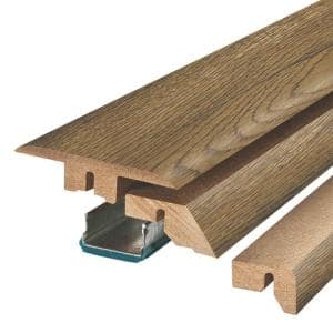 Chestnut Beluga Oak 3/4 in. Thick x 2-1/8 in. Wide x 78-3/4 in. Length Laminate 4-in-1 Molding