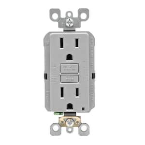15 Amp Self-Test SmartlockPro Slim Duplex GFCI Outlet, Gray (10-Pack)