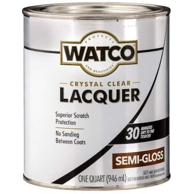 1 qt. Clear Semi-Gloss Lacquer Wood Finish (6-Pack)