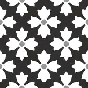 Bold Blooms 8 in. x 8 in. Matte Porcelain Floor and Wall Tile (5.33 sq. ft./Case)