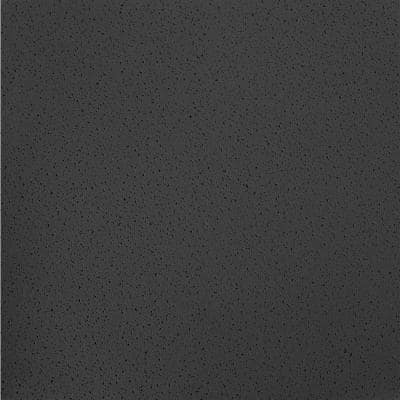 Fine Fissured Black 2 ft. x 2 ft. Lay-in Ceiling Tile (64 sq. ft. / Case)
