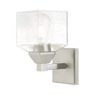 Aragon 1 Light Brushed Nickel Wall Sconce