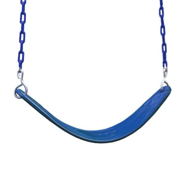 Gorilla Playsets Extreme Duty Blue Belt Swing With Blue Chains 04 0002 B B The Home Depot