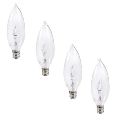 60-Watt B10 Double Life Incandescent Light Bulb in 2700K Soft White Color Temperature (4-Pack)
