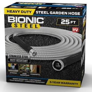1/2 in Dia. x 25 ft. Heavy-Duty Stainless Steel Garden Hose