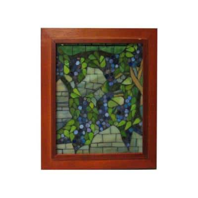 Springdale 10 in. H Snowball Wisteria Mosaic Art Glass Wall Panel