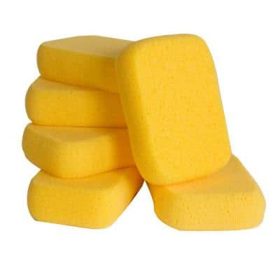 7-1/2 in. x 5-1/2 in. x 1-7/8 in. Extra Large Grouting, Cleaning and Washing Sponge (6-Pack)