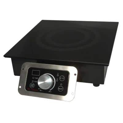12 in. Built-In Electric Cooktop in Black with 1 Element